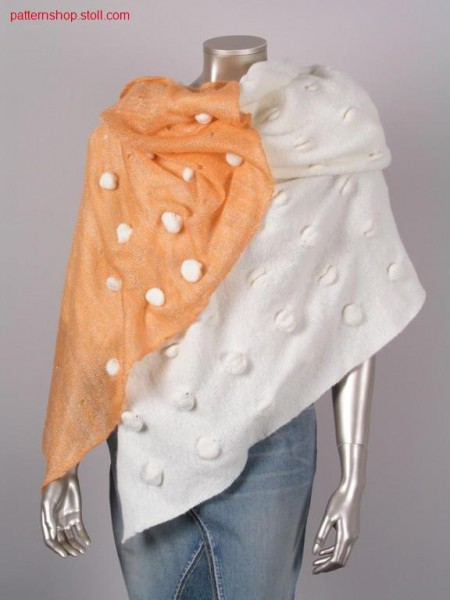 Two-piece Cape with knops applications / Zweiteiliger Umhang mit Noppenapplikationen