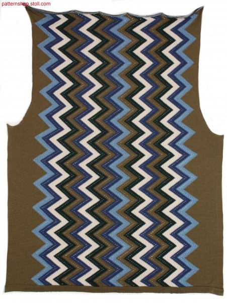 Fully Fashion Intarsia front with pointelle structure / Fully Fashion Intarsia-Vorderteil mit Petinetstruktur