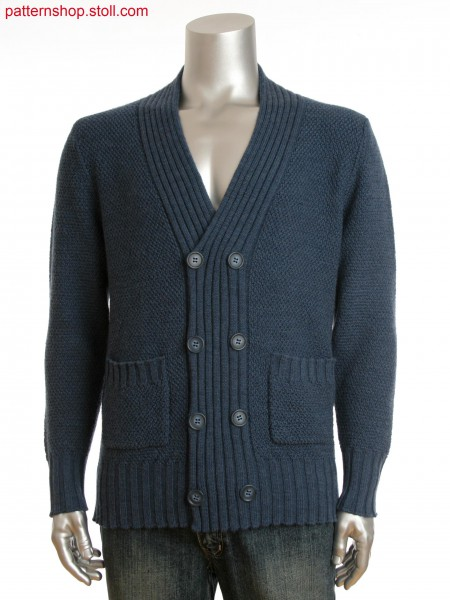 Fully Fashion men's buttoned cardigan with pockets