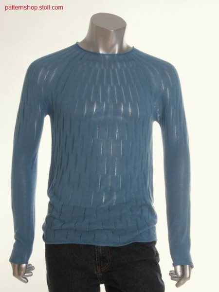 Fair isle jersey pullover / Fair Isle Rechts-Links Pullover