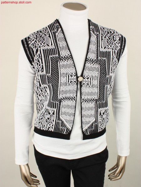 Fully Fashion Ladies vest with kelim-like patterning / Fully Fashion Damenweste mit kelim inspirierter Musterung