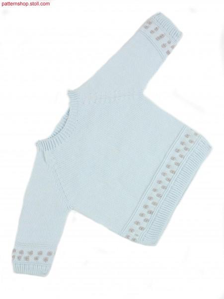 Jersey baby raglan pullover / Rechts-Links Baby-Raglanpullover