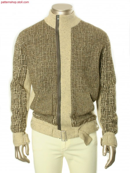 Fully Fashion cardigan in 2-colour jacquard / Fully Fashion Strickjacke in 2-farbigen Jacquard