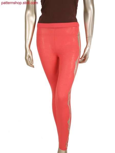 Fully Fashion intarsia leggins with openings