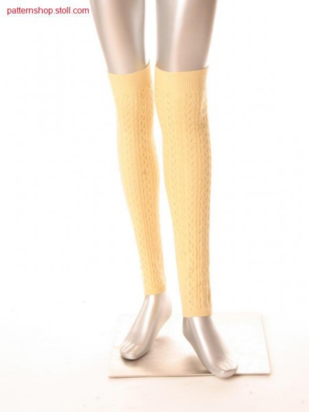 Leg warmers with pointelle structure