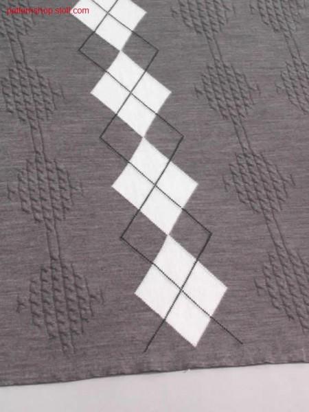 3-Colour intarsia, Burlington-Stil / 3-Farbiges Intarsienmuster mit