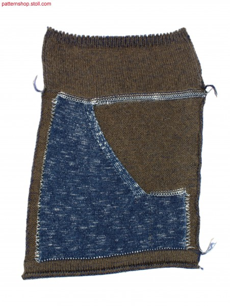 Swatch with knitted-on kangaroo pocket / Musterausschnitt mit angestrickter K