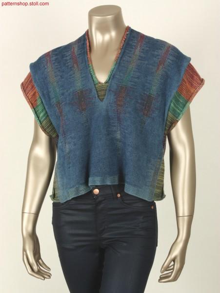 2-layer poncho in denim look / Poncho mit 2-Lagen in Denim-Look