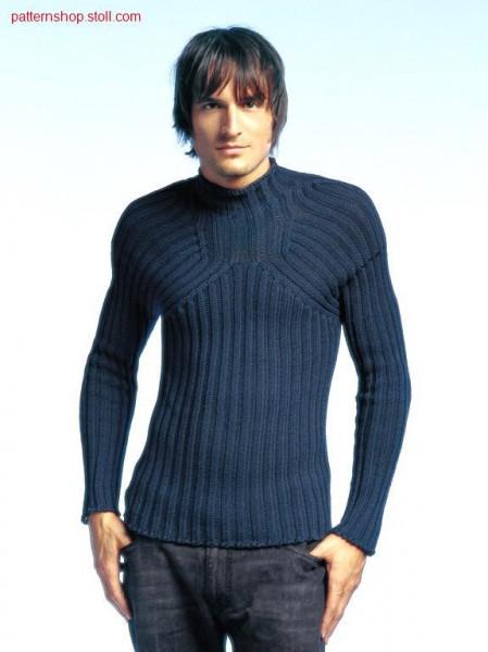 2x2 rib pullover with deep raglan shape / 2x2 Ripp-Pullover mit tiefer Raglanform