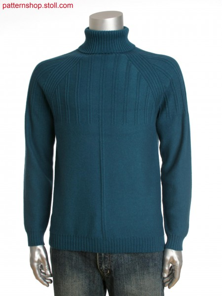 Stoll-knit and wear&reg men's turtle neck with rib detail