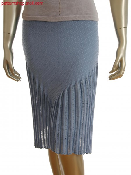 Fully Fashion skirt in front back jersey with float motif