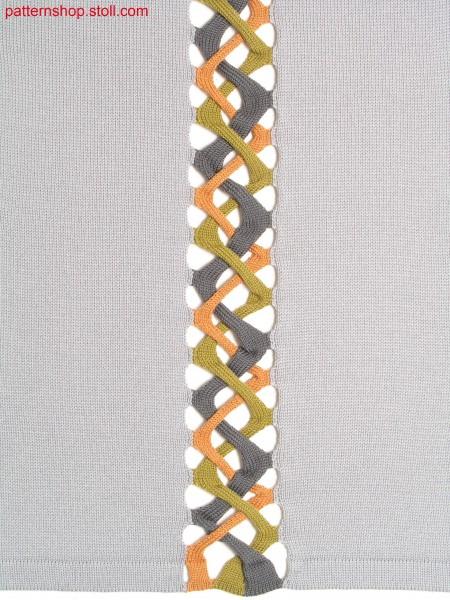 Intarsia braid pattern / Intarsia Flechtmuster
