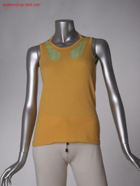 Fitted FF-jersey halter-neck top with back cut-out / Tailliertes FF-Rechts-Links Neckholder-Top mit R