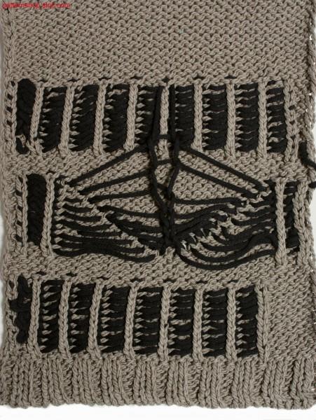 Jersey with 1x1 technique und intarsia patterning / Rechts-Links mit 1x1 Technik und Intarsia-Musterung