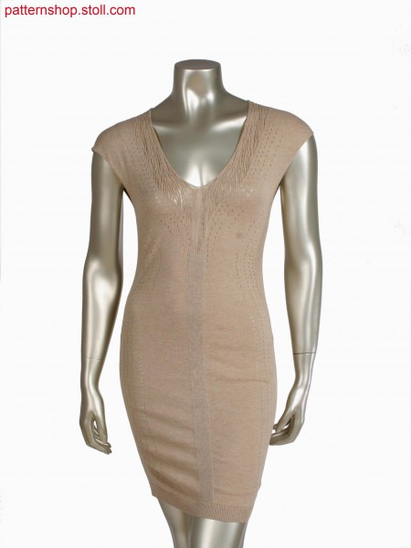 Stoll-multi gauges&reg, Fully Fashion dress with pointellestructure