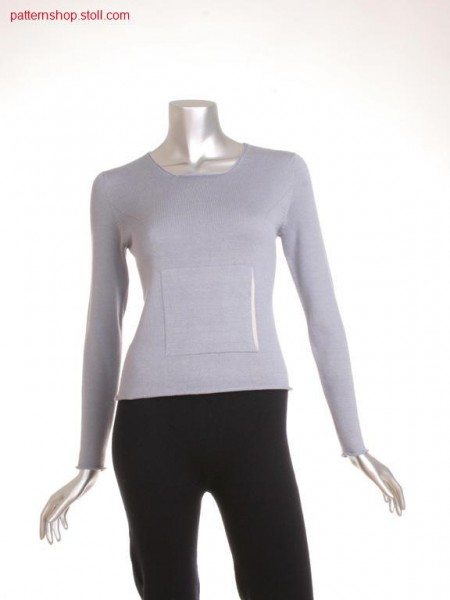 Fitted jersey pullover with inserted sleeves / Taillierter Rechts-Links Pullover mit eingesetzten