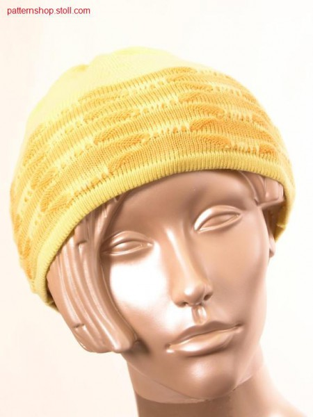 Ringed fully fashion cap with structure  / Geringelte Fully Fashion M