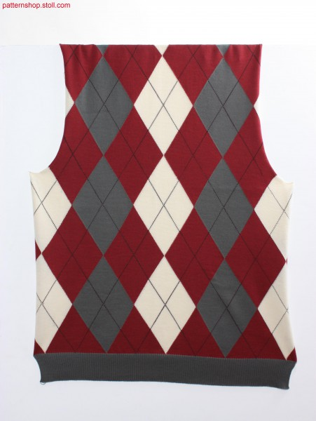 Fully Fashion argyle intarsia pattern / Fully Fashion Argyle Intarsiamuster