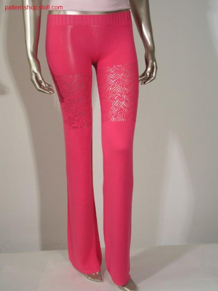Pants in jersey with pointelle structure / Hose in R-L mit Petinetstruktur
