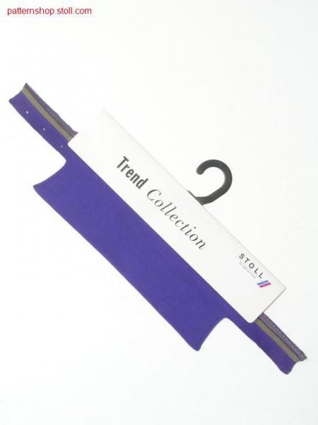 FF-RR shirt collar with 3 needle 1x1-narrowing / FF-RR Hemdkragen mit 3 Nadel 1x1-Minderung