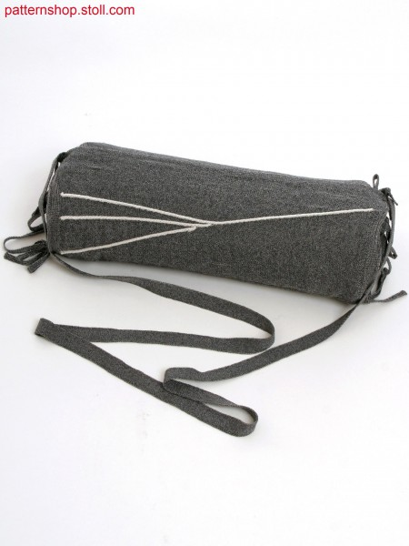 3 layer multi functional bag in gore technique and knitted on straps and application on inside layer.