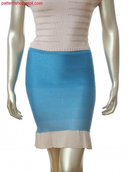 Fully Fashion skirt in 2-color float jacquard with full rib at hem
