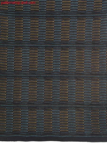 Knitted fabric with staggered wave structure / Gestrick mit vertikal versetzter Wellenstruktur