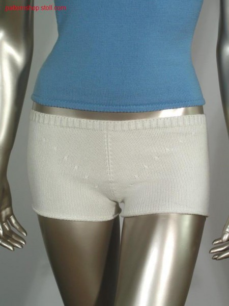 Woman shorts in jersey with narrowing marks / Damenshorts in R-L mit Minderbl