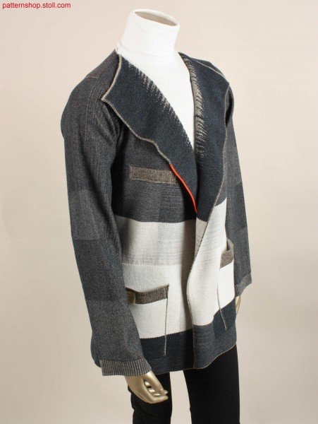 Long jacket with shaping by gore technique / Lange Jacke mit Formgebung durch Spickeltechnik