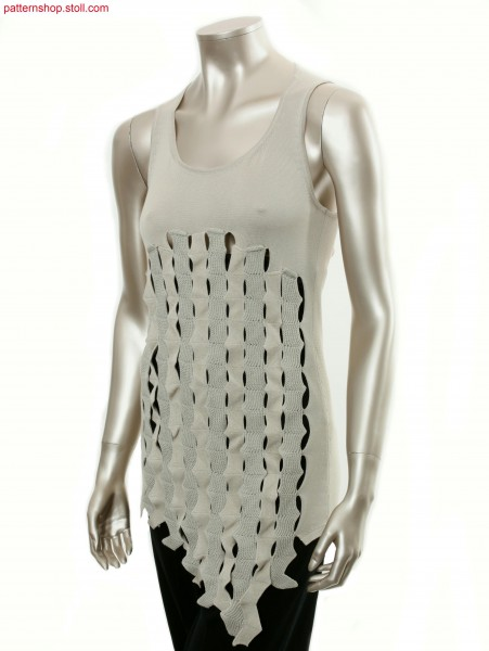 Fully Fashion jersey top with intarsia tapes / Fully Fashion Rechts-links Top mit Intarsia B