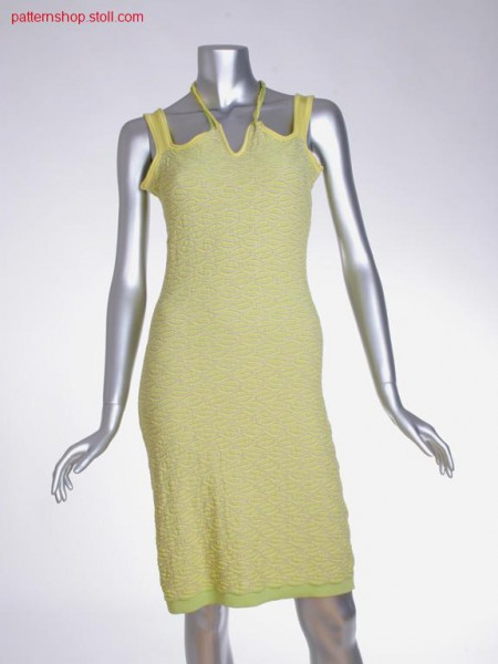 Fitted FF halter-neck dress in / Tailliertes r
