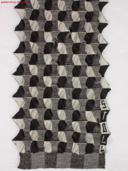 Intarsia plated chequered pattern / Intarsiaplattiertes Schachbrettmuster
