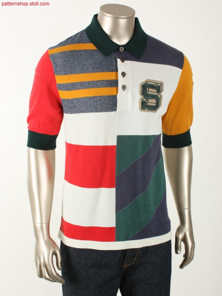 Fully Fashion jersey rugby polo shirt / Fully Fashion Rechts-Links Rugby-Polohemd