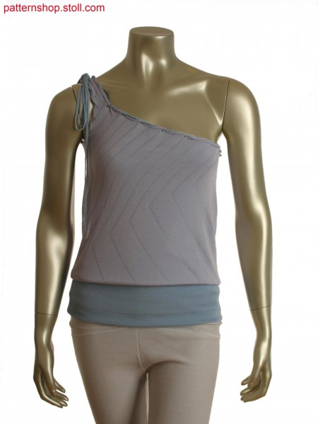 Fully Fashion asymmetric top in 2 layer optic