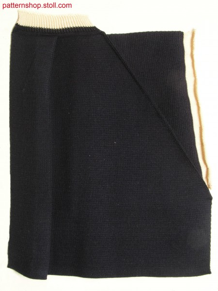 Swatch from pleated trousers in milano-rib / Musterausschnitt aus Bundfaltenhose in Milano-Rib