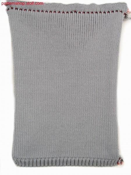 Four layer fabric in 1x2 technique / Vierlagiges Gestrick in 1x2 Technik