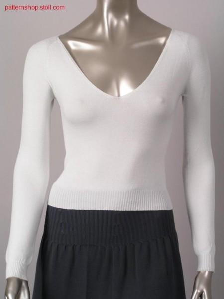 Fitted jersey raglan pullover / Taillierter Recht-Links Raglanpullover