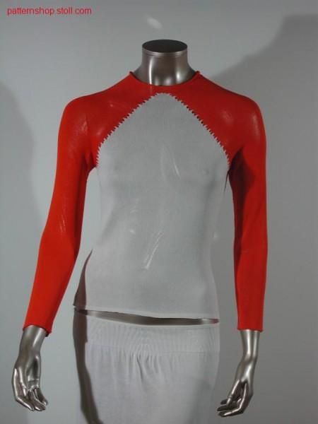 Tailored long-sleeve raglan pullover / Taillierter langarm Raglanpullover