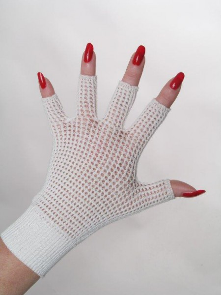 Picture: Half-finger gloves with pointelle structure