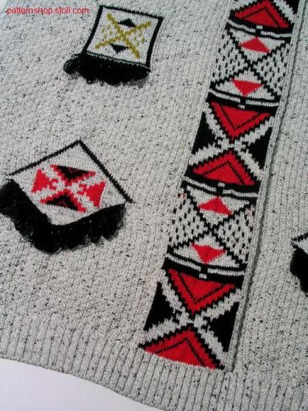 Pattern intarsia , fringe / Intarsia Muster, Franse