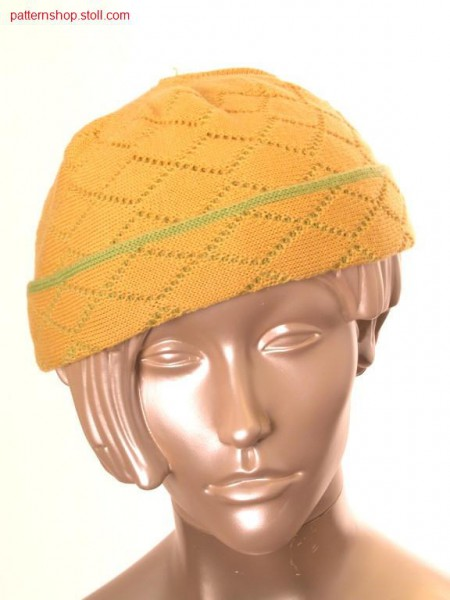Cap with cross tubular relief jacquard / M