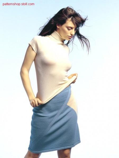 Jersey-Intarsia skirt / Rechts-Links-Intarsia Rock