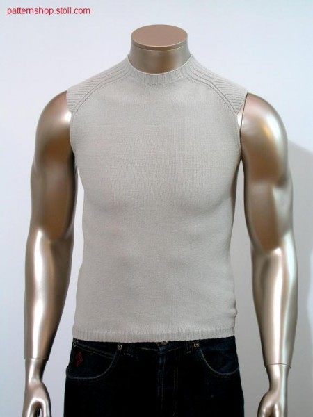 Top in jersey and saddle shoulder in 2x2- rib. Top in RL und Sattelschulter in 2x2- Rippe