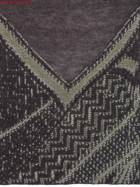 Swatch with 3-colour jacquard-intarsia structure / Musterausschnitt in 3-farbiger Jacquard-Intarsia Struktur