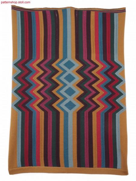 Striped intarsia pattern with zigzag motif / Intarsiastreifen-Muster mit Zickzag-Motiv