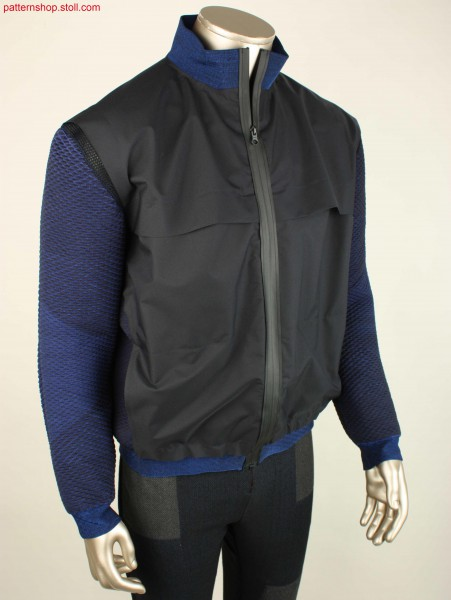 Sport jacket combined with knit and woven fabrics / Sport-Jacke, kombiniert aus Strick- und Webwaren