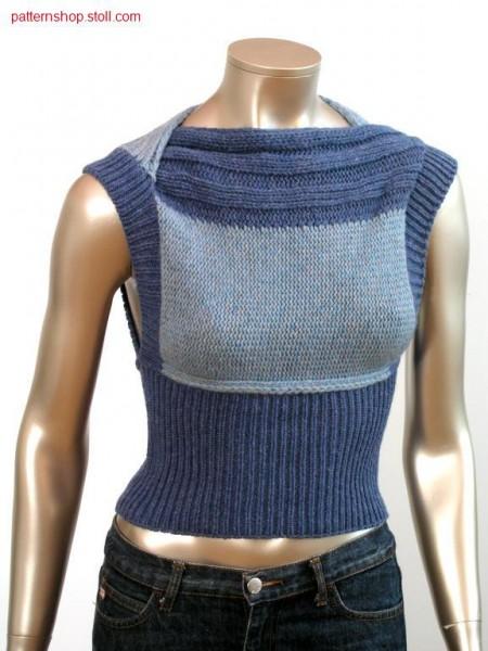 FF-Intarsia Top across to stitch direction / FF-Intarsia Topquer zur Maschenrichtung