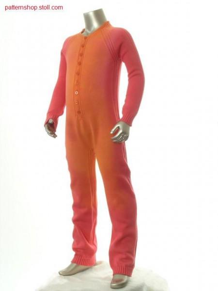 Jersey children's raglan overall in tie-dye-technique / Rechts-Links Kinder Raglanoverall in Bandana-Technik
