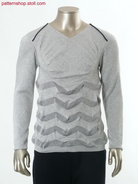 Fully Fashion pullover with shoulder pin-tuck / Fully Fashion Pullover mit Schulterbiese