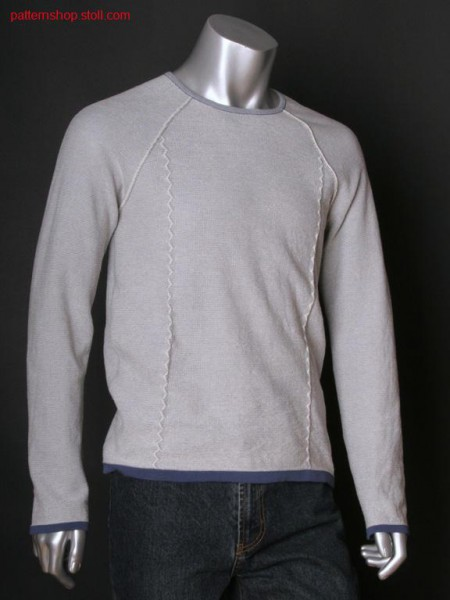 Fully fashion raglan pullover with zigzag motif / Fully Fashion Raglanpullover mit Zickzackmotiv